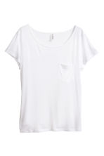 Jersey top - White - Ladies | H&M CN 3