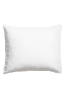 Washed linen pillowcase