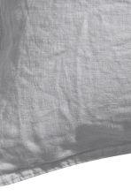 Washed linen pillowcase - Light grey - Home All | H&M IE 7
