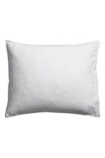 Washed linen pillowcase - Light grey - Home All | H&M CN 2