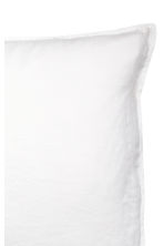 Washed linen pillowcase - White - Home All | H&M CN 3
