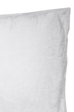 Washed linen pillowcase - Light grey - Home All | H&M CN 4