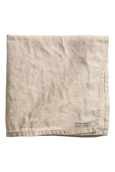Serviette en lin lavé - Beige lin - Home All | H&M FR 1