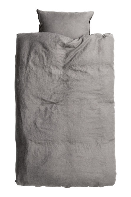 Washed linen duvet cover set