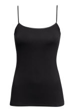 Spaghetti strap top - Black - Ladies | H&M CN 2