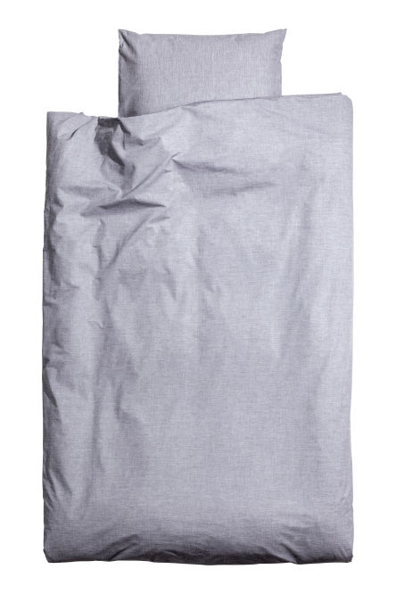 Cotton chambray duvet set
