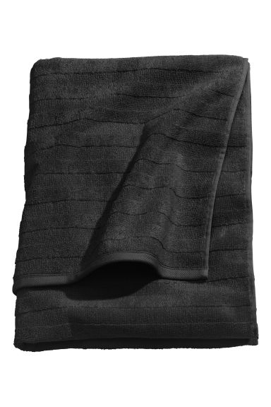 Drap de douche - Noir - Home All | H&M FR 1