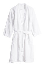 Washed linen dressing gown - White - Home All | H&M CN 2