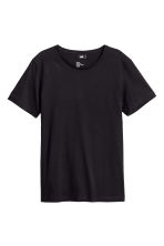 Round-neck T-shirt Regular fit - Black - Men | H&M 2