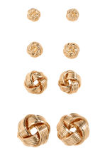 4 pairs earrings - Gold - Ladies | H&M CN 1