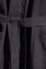 Washed linen dressing gown - Anthracite grey - Home All | H&M CA 6