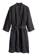Washed linen dressing gown - Anthracite grey - Home All | H&M CA 5
