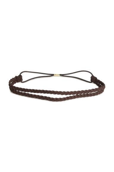 Braided hairband - Brown - Ladies | H&M CN 1