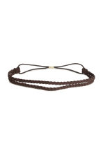 Braided hairband - Brown - Ladies | H&M 1