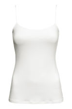 Spaghetti strap top - White - Ladies | H&M CN 2