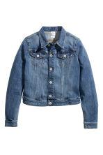 veste en jean bleu femme h m fr. Black Bedroom Furniture Sets. Home Design Ideas