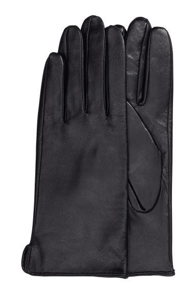 Ladies leather gloves xs - Leather Gloves Black Ladies H M