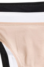 3-pack string briefs - Light beige - Ladies | H&M CN 6