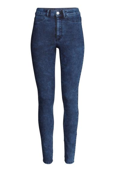pantalon taille haute bleu denim femme h m fr. Black Bedroom Furniture Sets. Home Design Ideas
