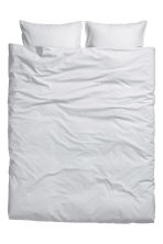 Washed cotton duvet cover set - Light grey - Home All | H&M GB 7