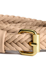 Braided belt - Light beige - Ladies | H&M CN 3