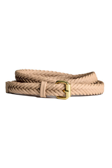 Braided belt - Light beige - Ladies | H&M 1