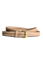 Braided belt - Light beige - Ladies | H&M CN 1