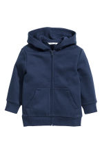 Hooded jacket - Dark blue - Kids | H&M CN 2