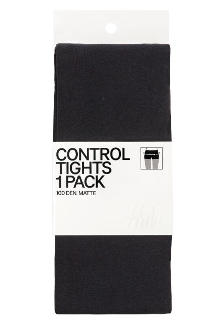 100 denier control-top tights