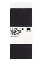 100 denier control-top tights - Black - Ladies | H&M 2