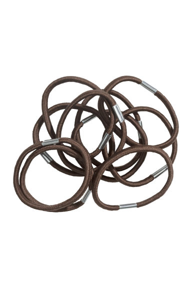 10-pack hair elastics - Brown - Ladies | H&M CN 1