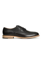 Leather Derby shoes - Black -  | H&M 2