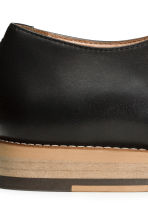 Leather Derby shoes - Black -  | H&M 5