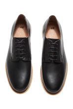 Leather Derby shoes - Black -  | H&M 3