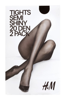 2-pack tights, 20 denier