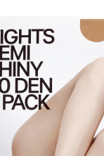 Set van 2 panty's - 20 denier - Lichtamber - DAMES | H&M BE 3
