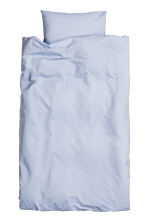 Cotton chambray duvet set - Light blue - Home All | H&M CN 2
