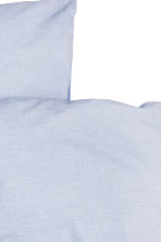Cotton chambray duvet set - Light blue - Home All | H&M CN 3