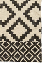 Patterned cotton rug - Natural white/Anthracite grey - Home All | H&M CN 6
