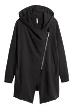 Hooded sweatshirt cardigan - Black - Ladies | H&M 2