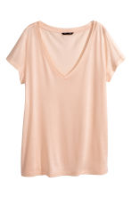 Top con scollo a V - Beige cipria - DONNA | H&M IT 1