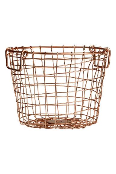 Corbeille fil cuivre H&M Home