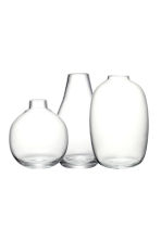 Lot de 3 mini vases - Verre transparent - Home All | H&M FR 2