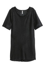 Long T-shirt - Black - Ladies | H&M CN 2