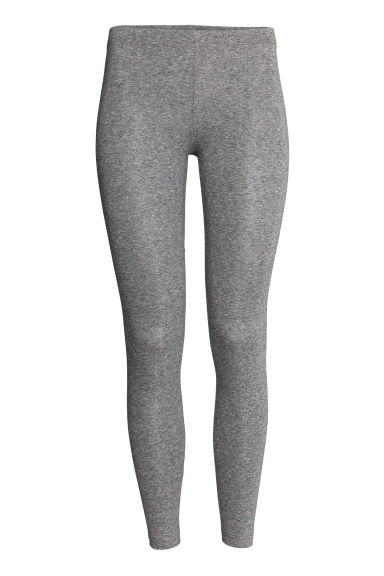 Leggings in jersey - Grigio scuro mélange - DONNA | H&M CH