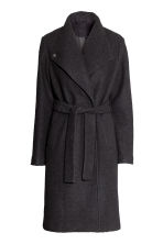 Cappotto misto lana bouclé - Nero - DONNA | H&M IT 2