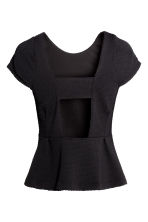 Top peplum - Nero - DONNA | H&M IT 3