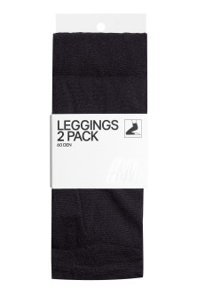 2-pack leggings, 60 den