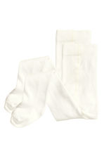 2-pack tights - White - Kids | H&M CN 1