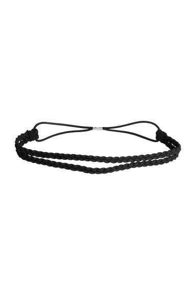 Braided hairband - Black - Ladies | H&M CN 1